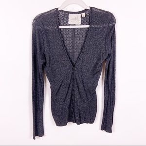 Anthropologie | Angel of the North Gray Cardigan L